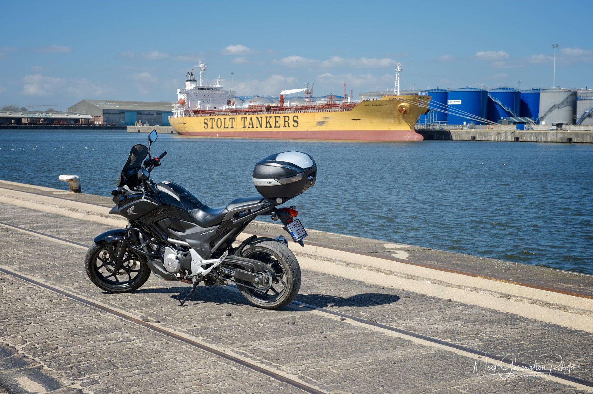 NC700X Middendok Port of Ghent 2013-04-20